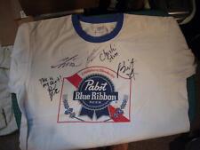 BLACKBERRY SMOKE AUTOGRAPHED L T SHIRT PABST BLUE RIBBON JACKYL JESSE + 4
