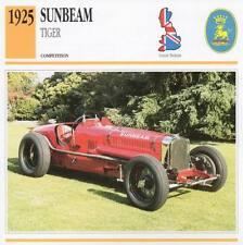 1925 SUNBEAM Tiger Racing Classic Car Photo/Info Maxi Card