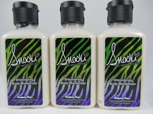3 PACK - SNOOKI SHIMMERING BODY MOISTURIZER LOTION by SUPRE 2.25 OZ