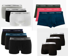 Calvin Klein CK Mens Pack of 3 Cotton Low Rise Underpants Boxers Trunks Briefs