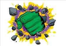 IRON ON TRANSFER - THE HULK FIST - For ANY COLOUR TOP-  12X13cm