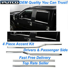 OEM Match Grade Window Trim Kit for 2013 13 Ford F-150 Super Crew Cab