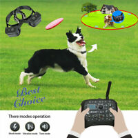 Wireless Pet Electric Trainer System Dog Training Shock 2 Collar Fence Outdoor