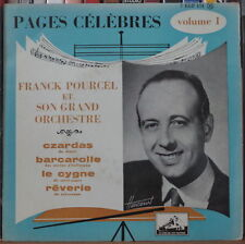 "FRANCK POURCEL PAGES CELEBRES VOLUME 1 45t 7"" FRENCH EP"