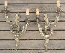 Importante Paire d'appliques anciennes en Bronze de Style Louis XV