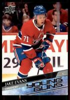 2020-21 UD Series 1 Base Young Guns #247 Jake Evans RC - Montreal Canadiens