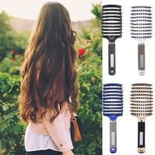 Professional Hair Extension Massage Brush Oval Cushion Bristles Flat Soft  Comb