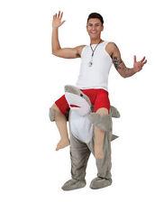 Ride on shark fish mascot costume Carry Me Fancy dress pants