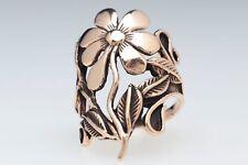 Calina Wilde Orchidee Ring Bronze Gothic Schmuck - NEU