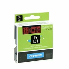 Dymo Black on Red 4500 D1 Standard Tape 12mmx7m S0720570 [ES45017]