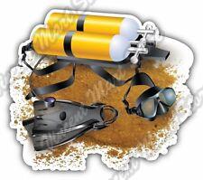 "Scuba Diving Equipment underwater Dive Sea Car Bumper Vinyl Sticker Decal 4.6"""