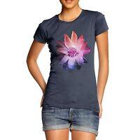 Women's Premium Cotton Funky Cosmic Flower Print T-Shirt
