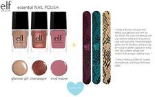 e.l.f. 6 pc nail polish lacquer & nail file set Glamour Girl Champagne Mod Mauve