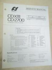 Sansui Service Manual~CD-X111 CD-2700 Compact Disc Player~Original