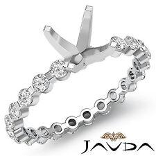 Round Semi Mount Diamond Engagement Bar Setting Unique Ring Platinum 950 0.4Ct
