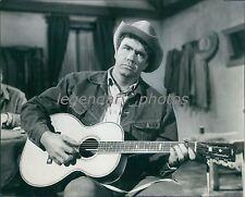 1966 Singer Hoyt Axton with Guitar Original News Service Photo