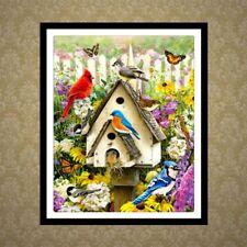 DIY 5D Diamond Painting Bird House Embroidery Cross Stitch Kit Craft Home Decor