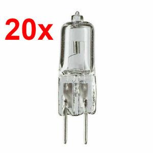 20x Philips Halogen Capsuleline 50W 12V GY6,35 13102 klar 4000h 50-Watt UV-Block