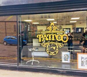 Tattoo Studio Window Sticker Wall Decal Sign Vinyl Beauty Barber Shop Big Size