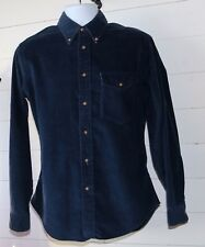 Vintage Beefeater Tailored for Harold's Men's M Navy Corduroy L/S B/F Shirt USA