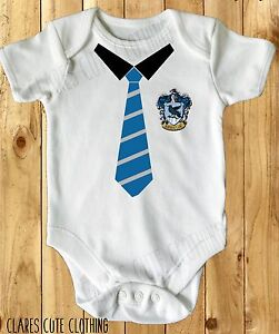 HARRY POTTER RAVENCLAW TIE HOGWARTS baby vest/grow/romper  all sizes available