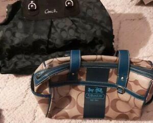 Lot of 2 Coach Purses - USED as is