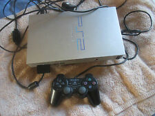 Sony PlayStation 2 Fat Satin Silver Console Bundle (SCPH-50003) PS2