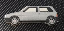 Fiat Uno Turbo Fridge Magnet Silver