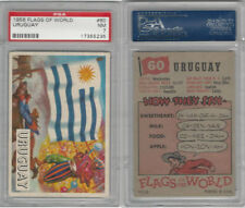 1956 Topps, Flags of the World, #60 Uruguay, PSA 7 NM