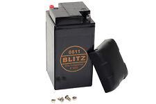 Batterie Gel Blitz 0811 6 Volt Pour BMW R 25/3 R 50/2 R50 S R 51 R 60 69 B49-6
