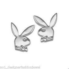 Playboy Logo Platinados Aretes