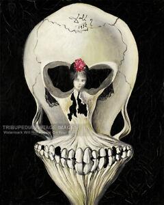 1939 Salvador Dali Poster Print - Ballerina & Skull Bizarre Odd Strange 2 Sizes
