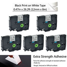 5PK Label Tape Extra Strength Adhesive for Brother TZe-S231 TZ S231 P-touch 12mm