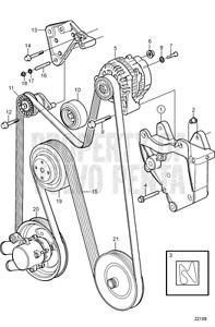 NEW Serpentine Alternator drive PS Belt 3817287, 3889124 4.3L V6 for volvo penta