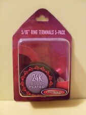 Tsunami RT18 8 Gauge Ring Terminals -- 5 Pack (3 Red, 2 Black) NEW Packaged