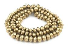 Mali Brass Bicone Beads 9x14mm African 38-40 Inch Strand Handmade