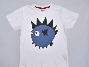 Ex Mini Boden White Applique T-Shirt Best Fit Age 5-6 NWOT (Cut Label)