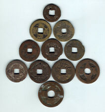 China / Japan. Various Bronze / Brass CASH Coins x 11 pces.. c1800s  aVG - Fine+