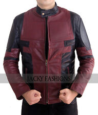 Ryan Reynolds Deadpool Leather Jacket - Available in All Sizes + Free Gift