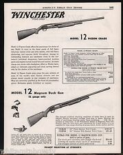 1954 WINCHESTER Model 12 Pigeon, Duck, Skeet Matted & Ventilated Rib Shotgun AD