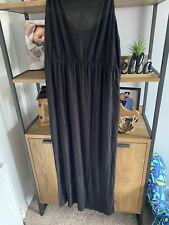 H&m Black Maxi Dress Split Side Floaty BNWT Size M 12-16