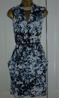 """DONNA RICCO"" SIZE 14 BEAUTIFUL SMART FLORAL DRESS WITH BELT AND POCKETS!!!"