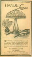 Advertising Newspaper Handel Lamps Charles F. Artes Silver Evansville IN 1922