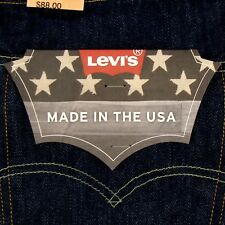 Levis 501 Jeans Original  MADE IN USA Size 38 x 34 DARK BLUE Rinse Levi's NWT