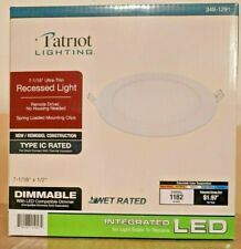 "Qty 2 Patriot Lighting Led 6"" inch Ultra-Thin Wafer Light 100W eq. Lithonia Wf6"