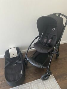 BUGABOO BEE  black pram with bassinet and accessories