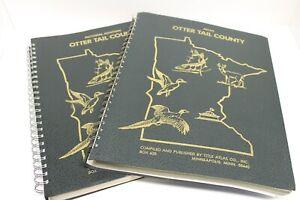 Vintage Otter Tail County – Pictorial Atlas Set – 1982 – Map – Fergus Falls