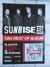 SUNRISE AVENUE 2014 PROMO  orig.Concert-Konzert-Tour-Poster-Plakat DIN A1 FOLDET