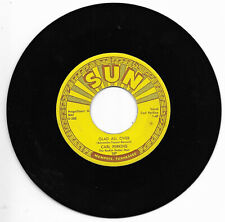CARL PERKINS-SUN 287 ROCKABILLY 45 RPM GLAD ALL OVER/LEND ME YOUR COMB VG+