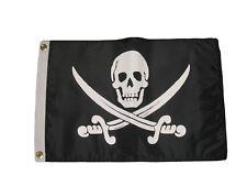 """12x18 Pirate Calico Jack Jack Rackham Double Sided 220D Nylon Flag 12""""x18"""""""